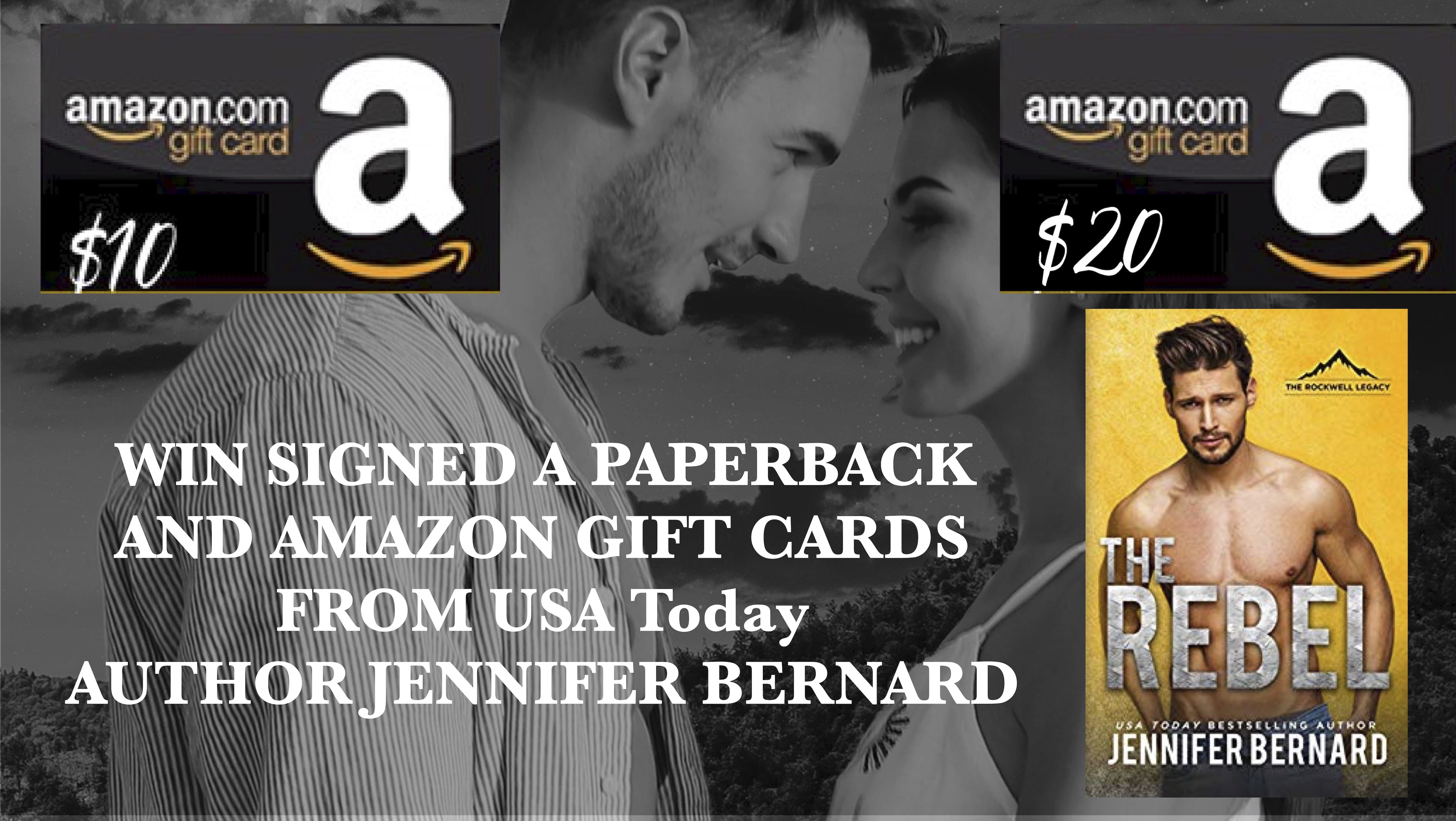 Enter to Win Prizes from USA TODAY Bestselling Author Jennifer Bernard
