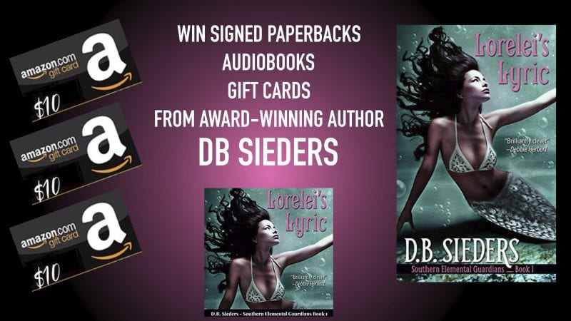 Enter to Win Paperbacks, Audiobooks, and Gift Cards from Award-Winning Author DB Sieders